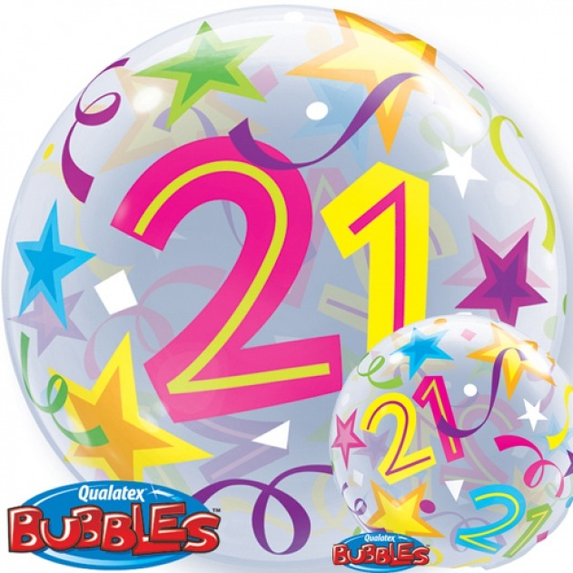 21st birthday balloons