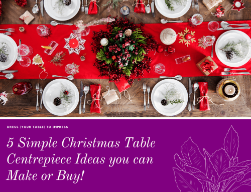 5 Simple Christmas Table Centrepiece Ideas You Can Make Or Buy!